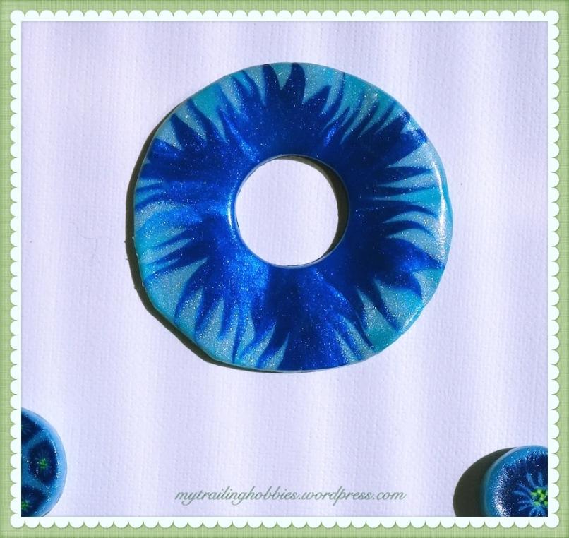 DIY Polymer Clay Cornflower Pendant and Beads (c)mytrailinghobbies.wordpress.com