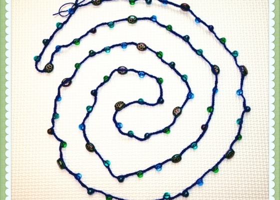 DIY Bead Crochet Necklace (c)mytrailinghobbies.wordpress.com