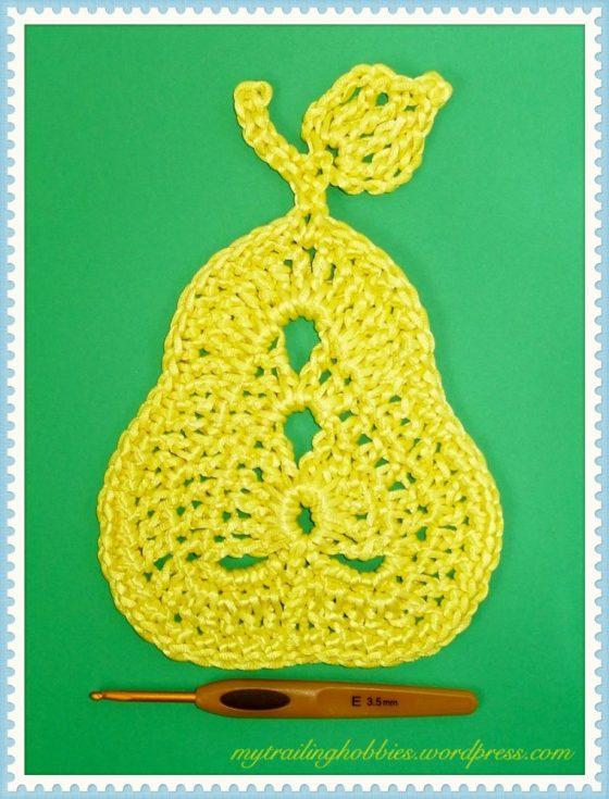Crochet Pear Coaster
