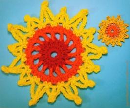 Sun - crochet motif (c)mytrailinghobbies.wordpress.com