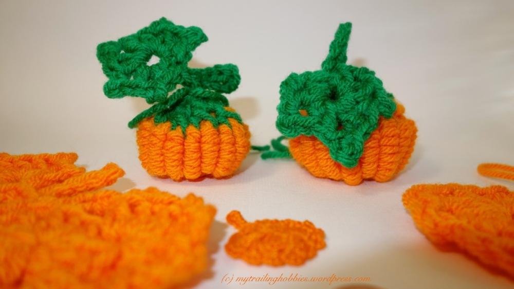 crochet pumpkin bullion stitch