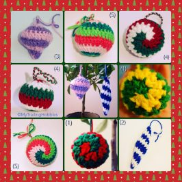 Christmas ornaments - free crochet pattern ©mytrailinghobbies.wordpress.com
