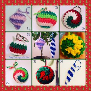 Christmas ornaments - free crochet pattern ©mytrailinghobbies.wordpress.com
