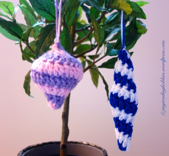 Crochet Ornament Spiral Crochet Crochet Icicle Christmas Ornament Crochet Baubles