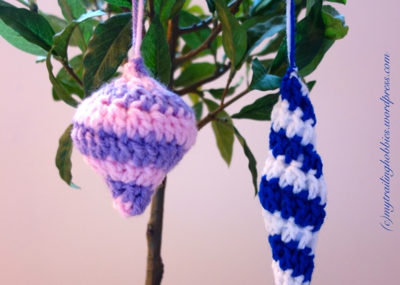 Crochet Ornament Spiral Crochet Crochet Icicle Christmas Ornament Crochet Baubles