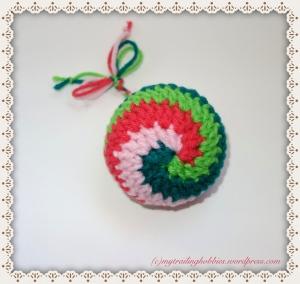 Spiral Crochet Crochet Classic Ornament Crochet Snowball Christmas Ornament Crochet Baubles