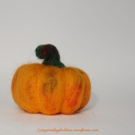 Needle Felted Pumpkin (c)mytrailinghobbies.wordpress.com