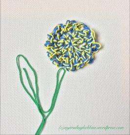 finger crochet flower coaster (c)mytrailinghobbies.wordpress.com