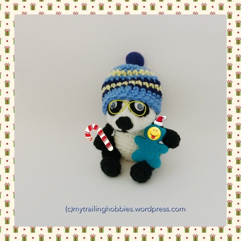 panda crochet toy and hat (c)mytrailinghobbies.wordpress.com