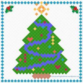 Christmas Tree Pixel Graph Pattern - free crochet pattern ©mytrailinghobbies.wordpress.com