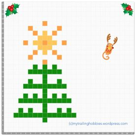 crochet Christmas tree - pixel graph - free pattern ©mytrailinghobbies.wordpress.com