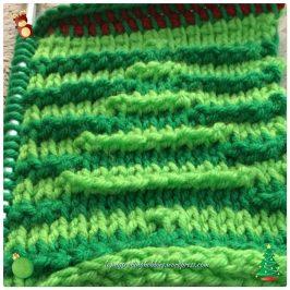 Crochet 3D Cristmas Tree Washcloth