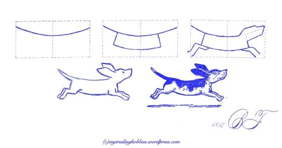 sketching | drawing a dog (c)mytrailinghobbies.wordpress.com