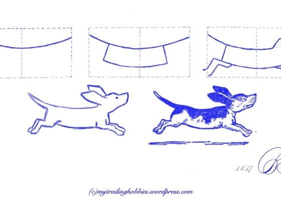 sketching | drawing a dog (c)mytrailinghobbies.wordpress.com