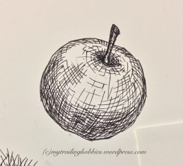 sketching | drawing an apple (c)mytrailinghobbies.wordpress.com