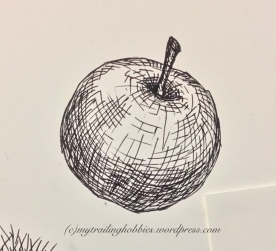 sketching | drawing an apple (c)mytrailinghobbies.wordpress.com