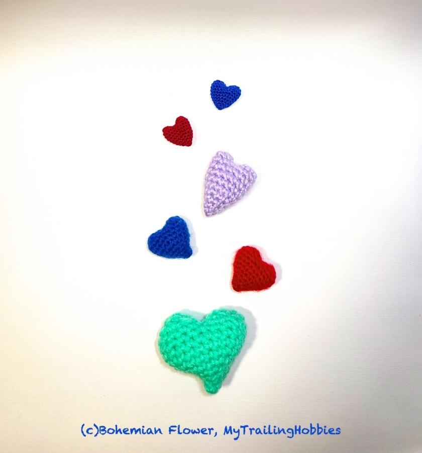 3D Hearts Crochet ©mytrailinghobbies.wordpress.com