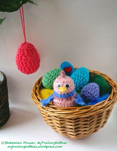 Crochet Easter Egg and Chick