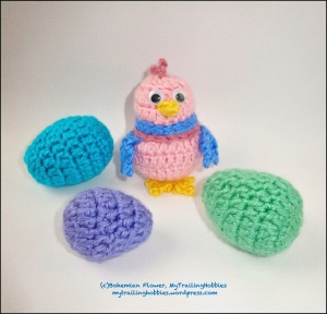 Crochet Easter Eggs and Chick 1