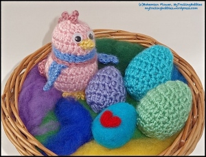 Crochet Easter Eggs and Chick 2