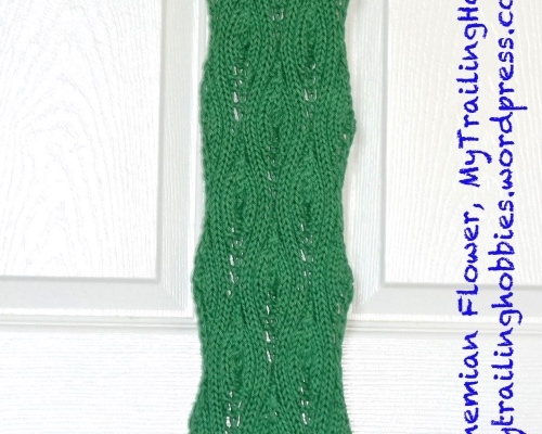 Knit Leaf Lucky Lilac Scarf