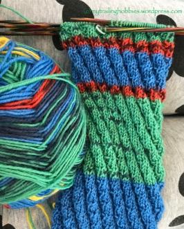 Staggered Ribbing Knit Stitch