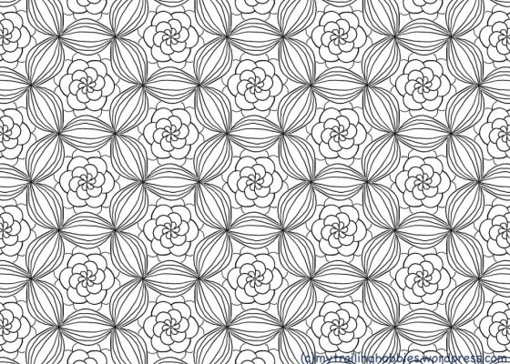 free meditative coloring page - bohemian flower - mytrailinghobbies