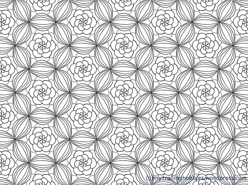 Bouquet - Coloring Page - Bohemian Flower - mytrailinghobbies.jpg
