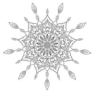Love Garden Mandala - Free Coloring Page - (c)Bohemian Flower - MyTrailingHobbies