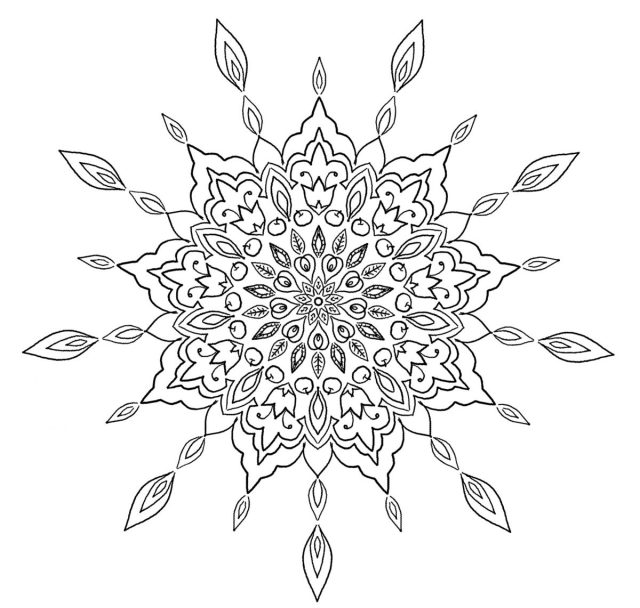 Love Garden Mandala - Free Coloring Page - (c)Bohemian Flower - MyTrailingHobbies